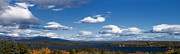 Clouds Trees Art - Lake Winnipesaukee New Hampshire in Autumn by Stephanie McDowell