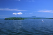 New Hampshire Posters - Lake Winnipesaukee Summer Day Poster by John Burk