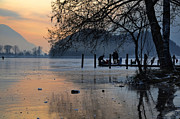 Sunset; Ice Prints - Lake With Ice In Sunset Print by Mats Silvan