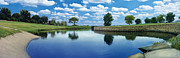 Clouds Art - Lakeridge Duck Pond by Robert Hudnall