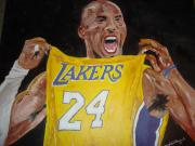 Bryant Painting Framed Prints - Lakers 24 Framed Print by Daryl Williams Jr