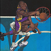 Lakers Painting Originals - Lakers Player by Yong Ma