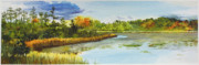 Lake Orion Paintings - Lakes Of Indianwood by Lauren Everett Finn