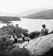 Enjoying Framed Prints - Lakes of Killarney - Ireland - c 1896 Framed Print by International  Images