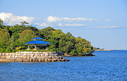Port Credit Prints - Lakeside Gazebo Print by Charline Xia