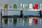 Dock Metal Prints - Lakeside Living Metal Print by Steve Gadomski
