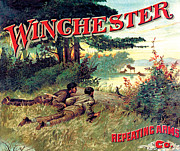 Winchester Posters - Lakeside Moose Poster by Unknown