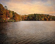 Autumn Landscape Art - Lakeside Morning by Jai Johnson