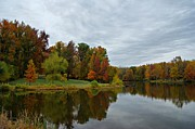 Autumn Art Prints - Lakeside Print by Sandy Keeton