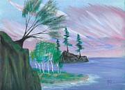 Lakeside Symphony Print by Robert Meszaros