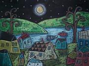 Lakeside Town Print by Karla Gerard