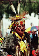 Pow Wow Metal Prints - Lakota Elder Metal Print by Terril Heilman