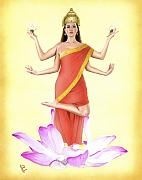 Hindu Goddess Originals - Lakshmi by Kevin Clark