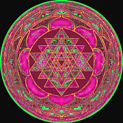 Shirt Digital Art - Lakshmi Yantra Mandala by Svahha Devi