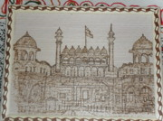 India Pyrography Metal Prints - Lal Quila Of Delhi India Metal Print by Vijay Sharma