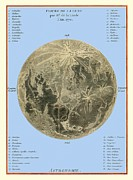 Selenology Prints - Lalandes Moon Map, 1772 Print by Detlev Van Ravenswaay