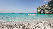 Lalaria Beach Skiathos Island Print by Nick Karvounis