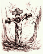 Jesus Drawings Prints - Lamb of God Print by Rachel Christine Nowicki