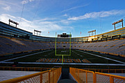 Green Bay Photo Framed Prints - Lambeau Endzone Two Framed Print by Ty Helbach