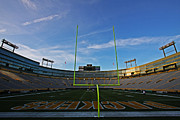 Green Bay Photo Framed Prints - Lambeau Endzone Framed Print by Ty Helbach