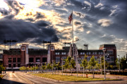 Green Bay Photo Framed Prints - Lambeau Field Awakes Framed Print by Joel Witmeyer