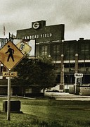 Green Bay Packers Framed Prints - Lambeau Field Framed Print by Michelle Calkins