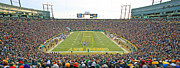 Green Bay Photo Framed Prints - Lambeau Field Panoramic Framed Print by Steve Sturgill