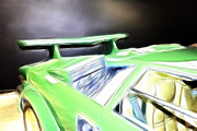 Drawings Photos - Lamborghini Countach by Cheryl Young