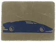 Italian Classic Car Prints - Lamborghini Countach Print by Irina  March