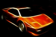Transportation Digital Art Framed Prints - Lamborghini Diablo Framed Print by Wingsdomain Art and Photography