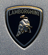Man Cave Framed Prints - Lamborghini Emblem Framed Print by Paul Ward
