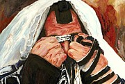 Prayer Shawl Paintings - Lamentations by Carole Spandau