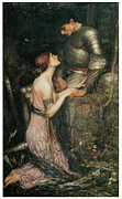 Waterhouse Paintings - Lamia by John William Waterhouse