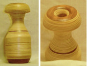laminated wood sculpture