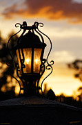 Candle Lit Prints - Lamp Light at Sunset Print by Mick Anderson