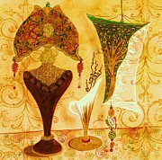 Lamps Mixed Media Posters - Lamp Menagerie II Poster by Jenny Elaine