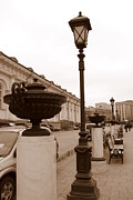 Park Benches Photo Originals - Lamp Post at Manege by Padamvir Singh