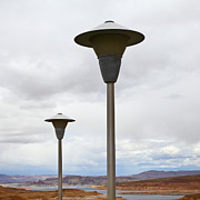 Lamp Post Prints - Lamp Posts in the Desert Print by Paul Edmondson