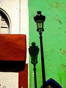 Lamp Post Framed Prints - Lamp Shadow 1 Framed Print by Olden Mexico