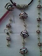 Jewellery Jewelry Originals - Lampwork Jewellery Set by Ozlem Ercan