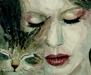 Songwriter  Painting Prints - Lana Del Rey and a friend  Print by Paul Lovering