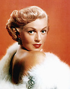 Fur Stole Prints - Lana Turner, 1950s Print by Everett
