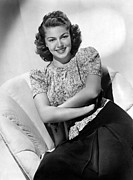 Print Blouse Prints - Lana Turner, Mgm Portrait, Ca. 1940 Print by Everett