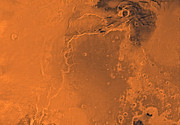 Astrogeology Prints - Lanae Palus Region Of Mars Print by Stocktrek Images
