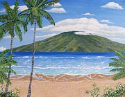 Key West Paintings - Lanai Morning by John Moon