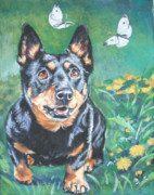 Heeler Paintings - Lancashire Heeler by Lee Ann Shepard