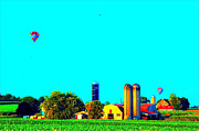 Pa Barns Prints - Lancaster County Balloons Print by See Me Beautiful Photography