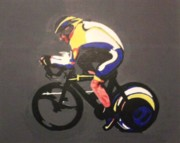 Lance  Armstrong Paintings - Lance Armstrong by Neil Roberts
