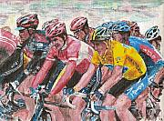 Lance Armstrong Painting Originals - Lance by David Hipwell