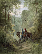 Guinevere Metal Prints - Lancelot & Guinevere Metal Print by Granger